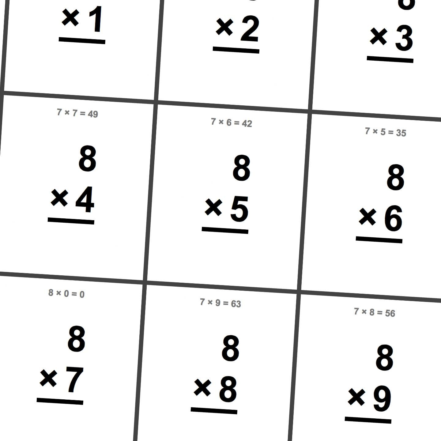 Free Printable Flash Cards For Multiplication Math Facts. This Set - Free Printable Math Flashcards Addition