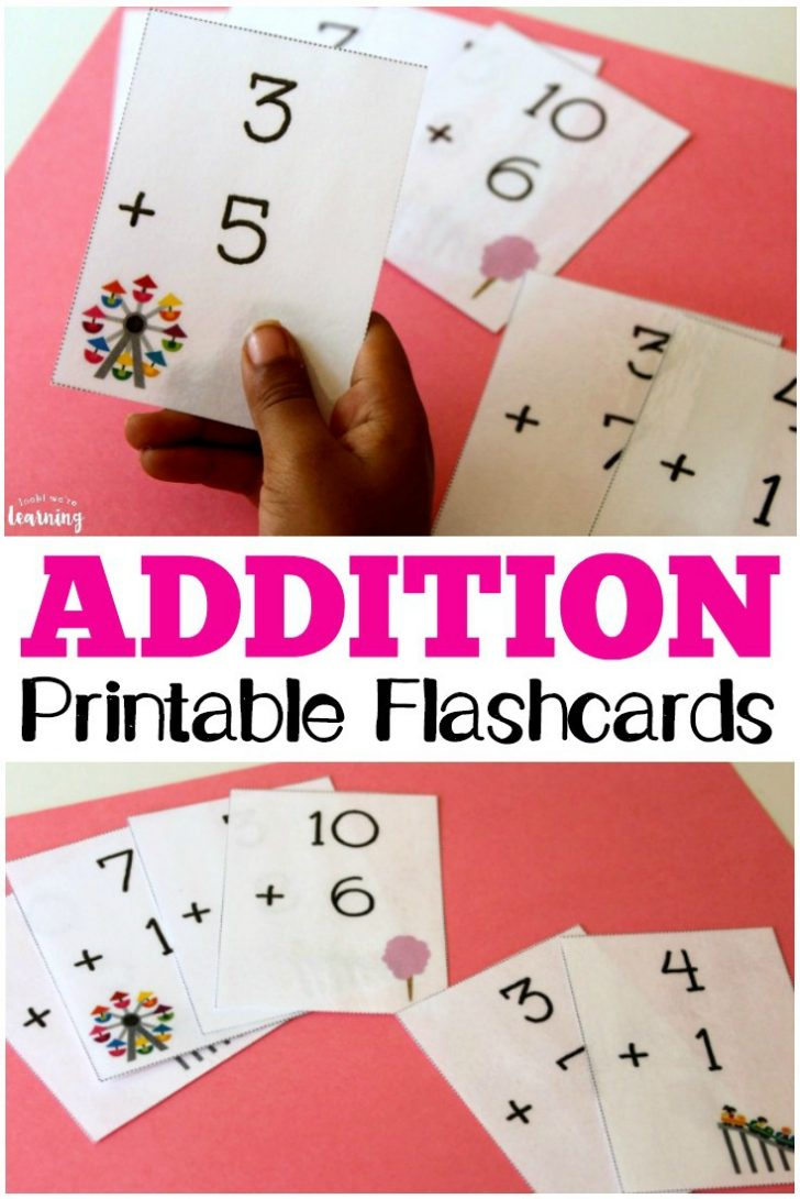 Free Printable Math Flashcards Addition