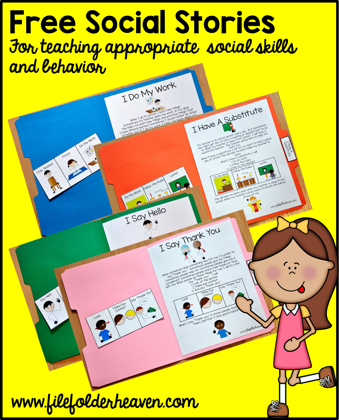 "Free, Printable ""folder Stories."" Simple One Page Social Stories - Free Printable Social Stories"