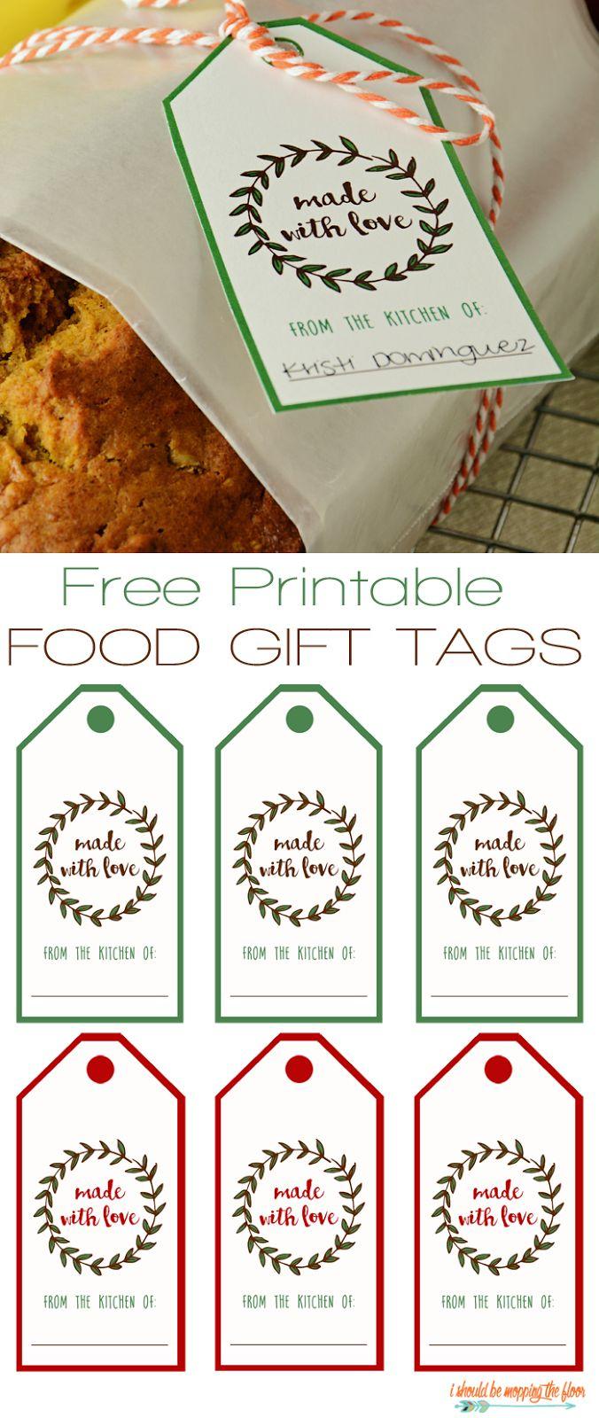 Free Printable Food Gift Tags   Printables   Pinterest   Gift Tags - Diy Christmas Gift Tags Free Printable
