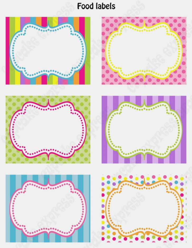 Free Printable Buffet Food Labels