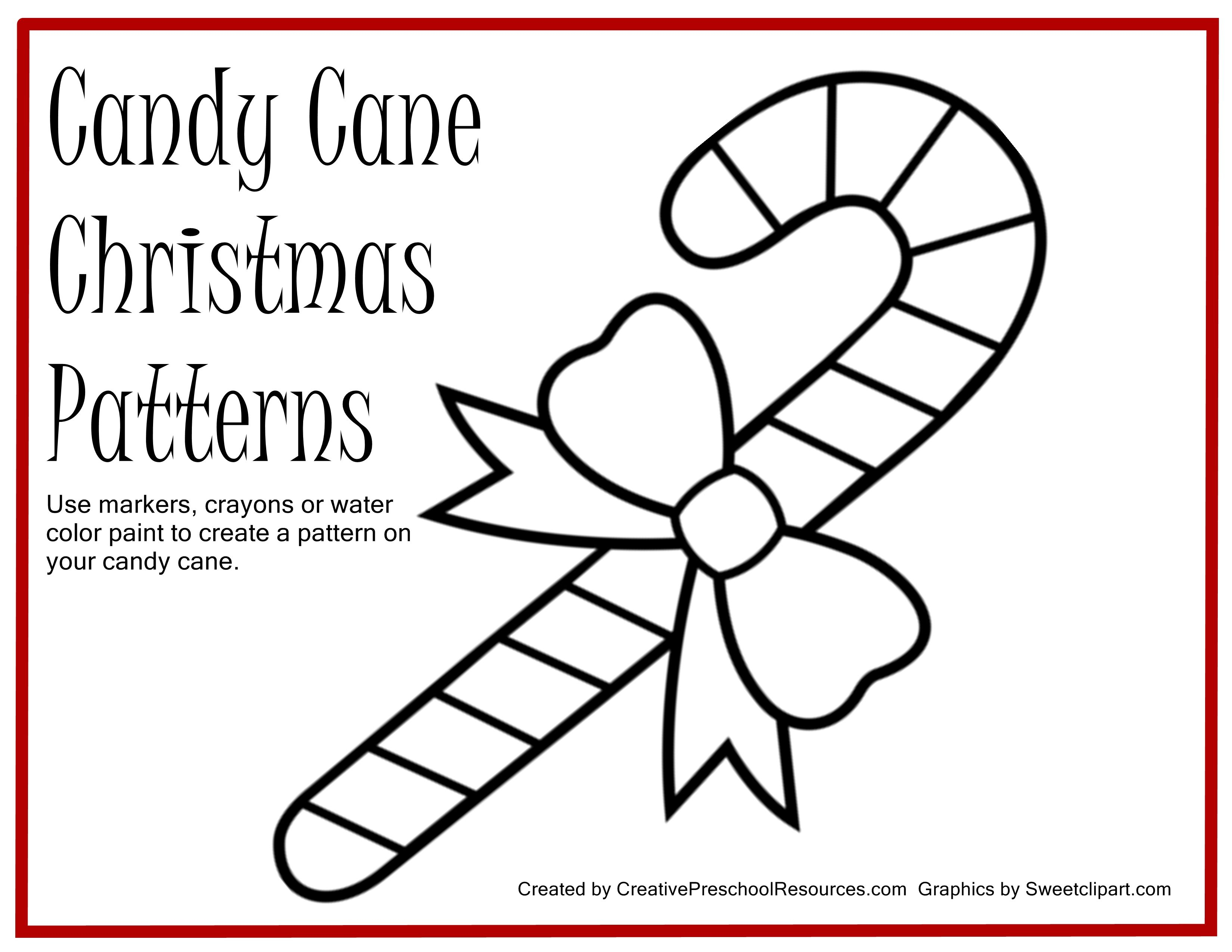 Free Printable For Painting Candy Cane Patterns   Preschool Ideas - Free Candy Cane Template Printable