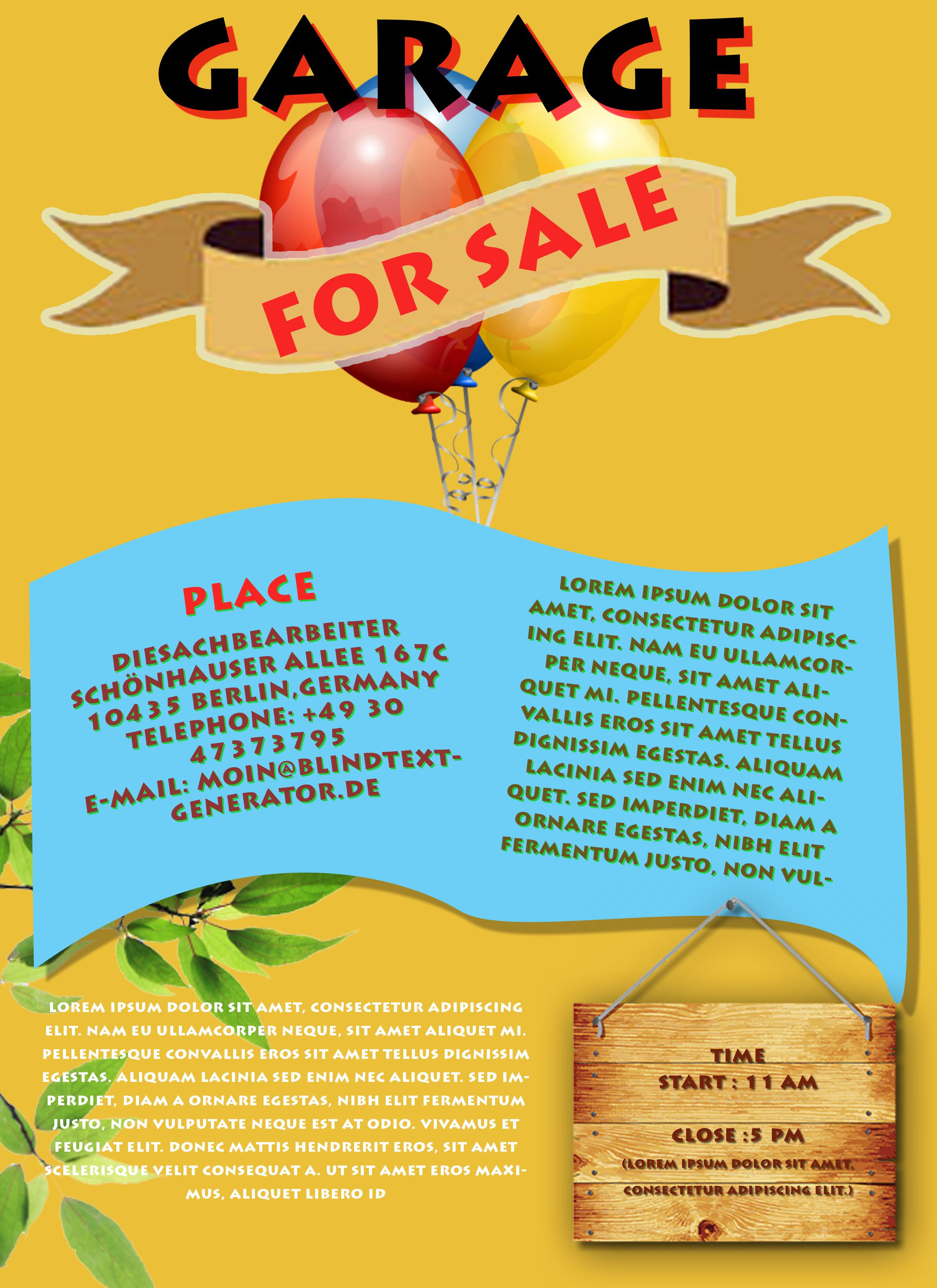 Free Printable Garage Sale Flyers Templates Attract More Customers - Free Printable Flyers