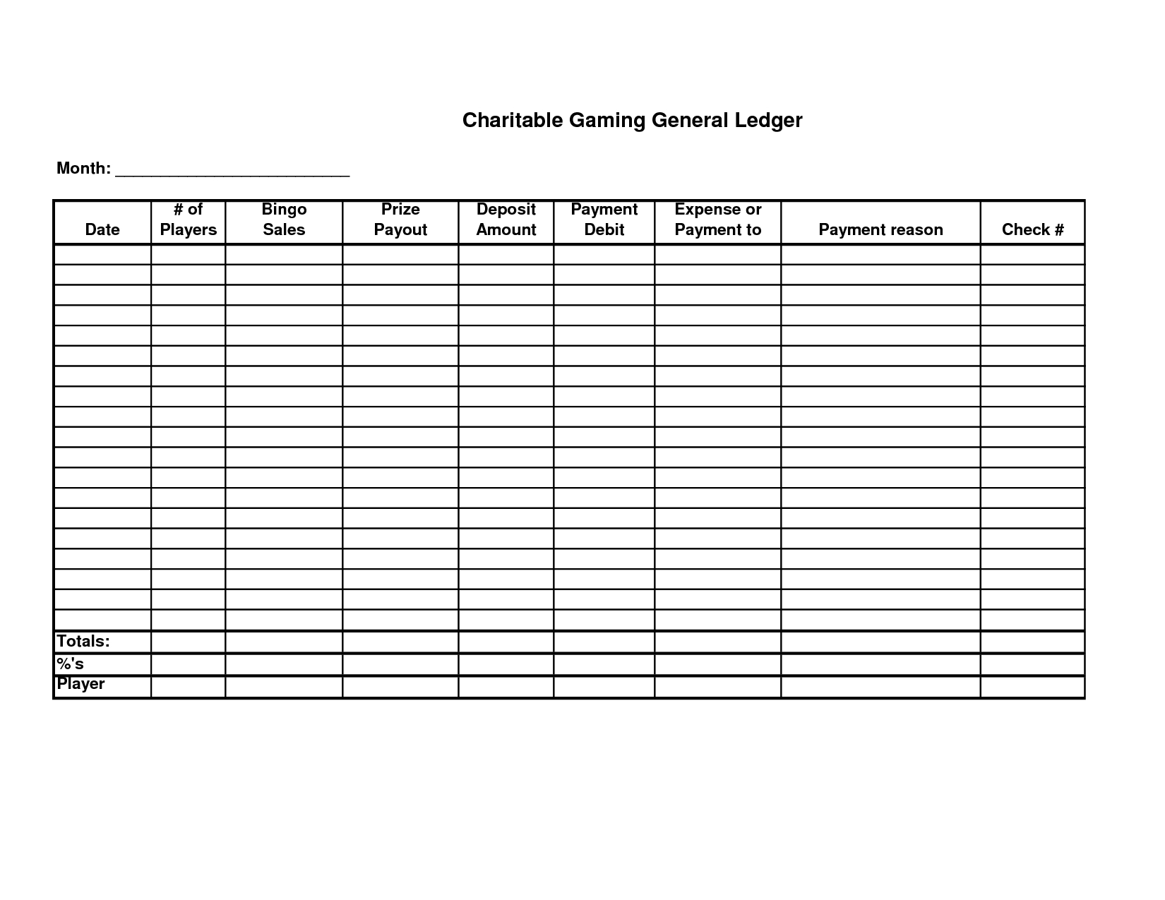 Free Printable General Ledger Sheet | Homemade Stuff | Pinterest - Free Printable Ledger Sheets