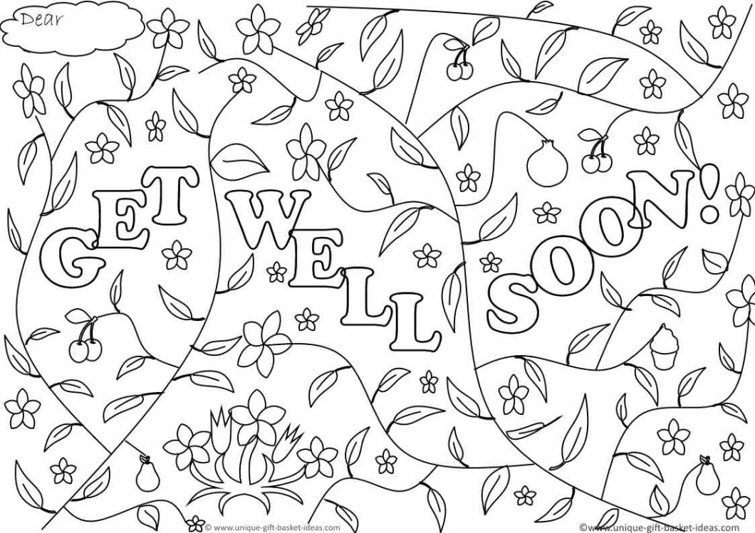 Free Printable Get Well Cards To Color 10 X Soon Coloring Pages Jpg - Free Printable Get Well Cards To Color