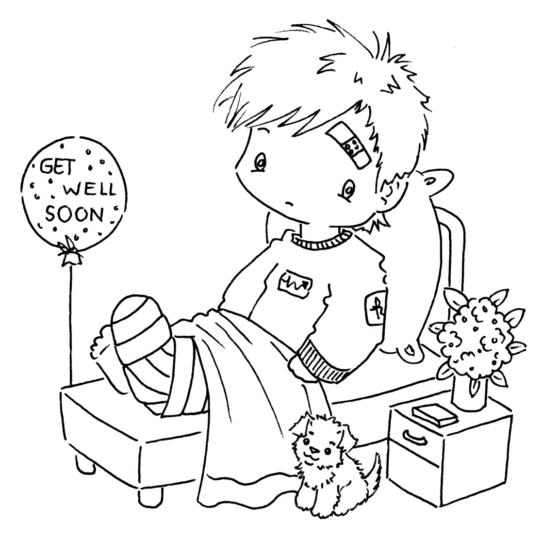 Free Printable Get Well Cards To Color - Stwbowlfest - Free Printable Get Well Cards To Color