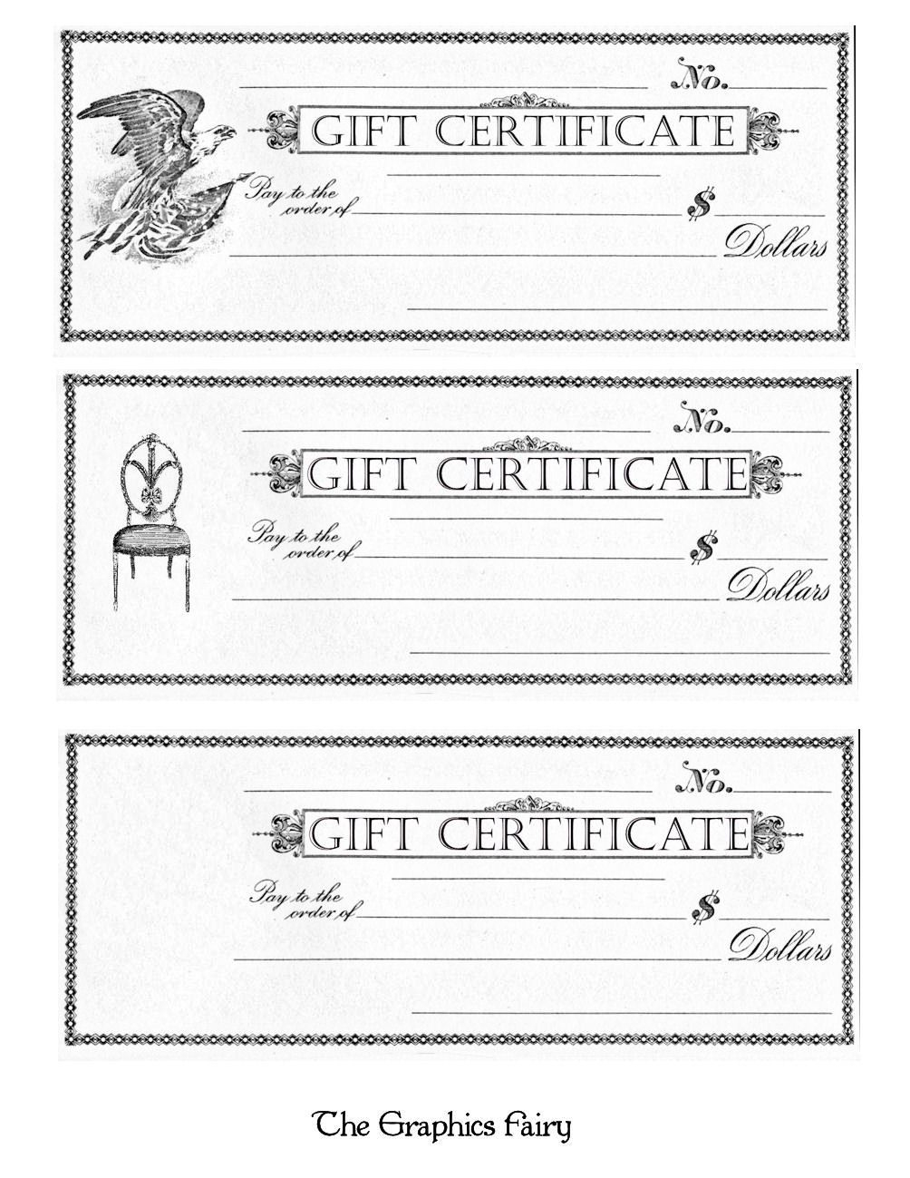 Free Printable - Gift Certificates | Craft Ideas | Pinterest | Free - Free Printable Gift Cards