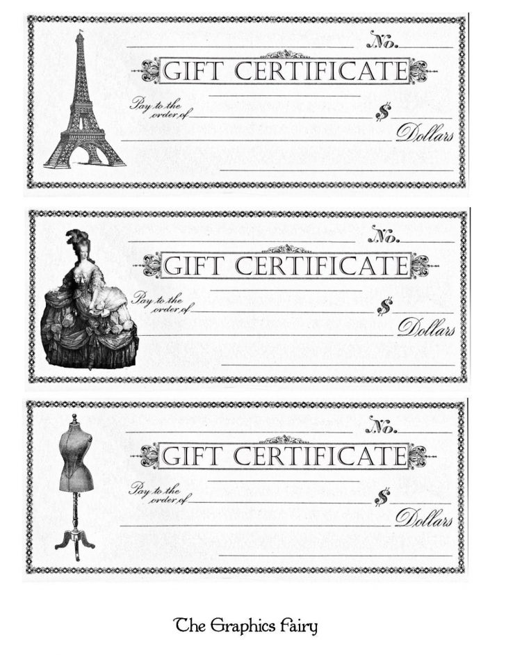 Free Printable Gift Coupons