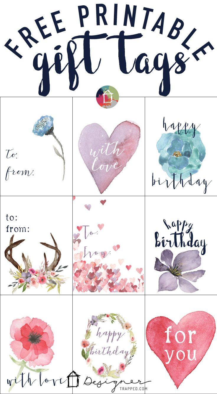 Free Printable Gift Tags For Birthdays | Designertrapped - Free Printable Gift Tags