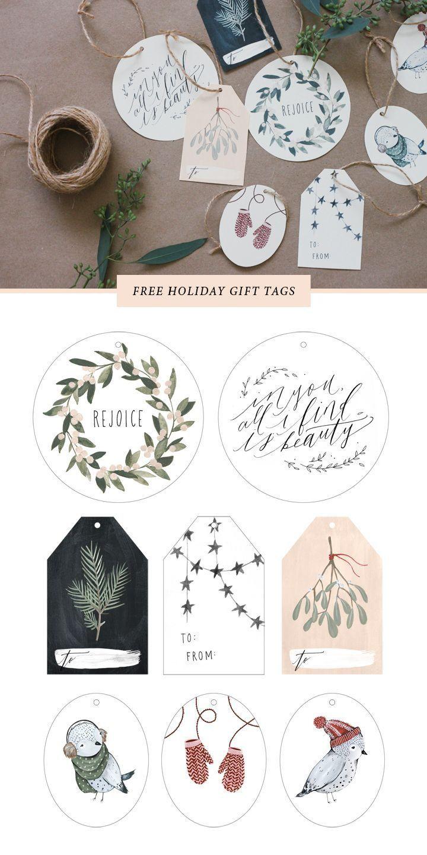 Free Printable Gift Tags | Holiday - Christmas | Pinterest | Holiday - Diy Gift Tags Free Printable