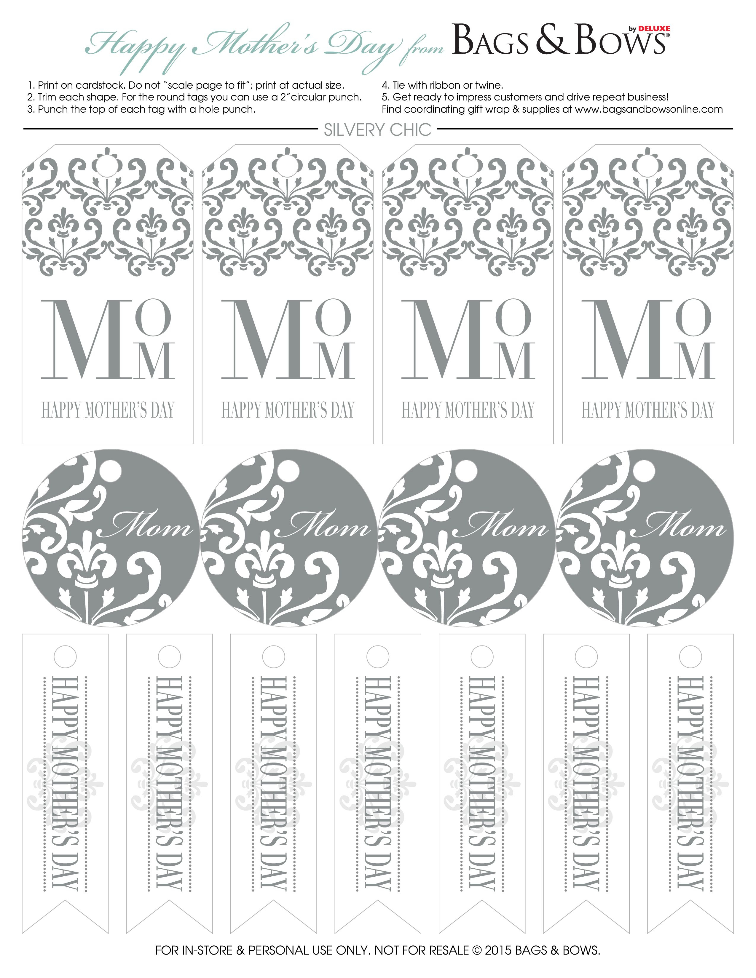 Free Printable Gift Tags! Mother's Day Is Fast Approaching. Click - Free Online Gift Tags Printable