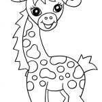 Free Printable Giraffe Coloring Pages For Kids | Easy Art Ideas For   Free Printable Animal Coloring Pages