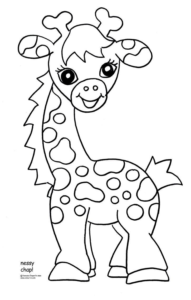 Free Printable Giraffe Coloring Pages For Kids | Easy Art Ideas For - Free Printable Animal Coloring Pages