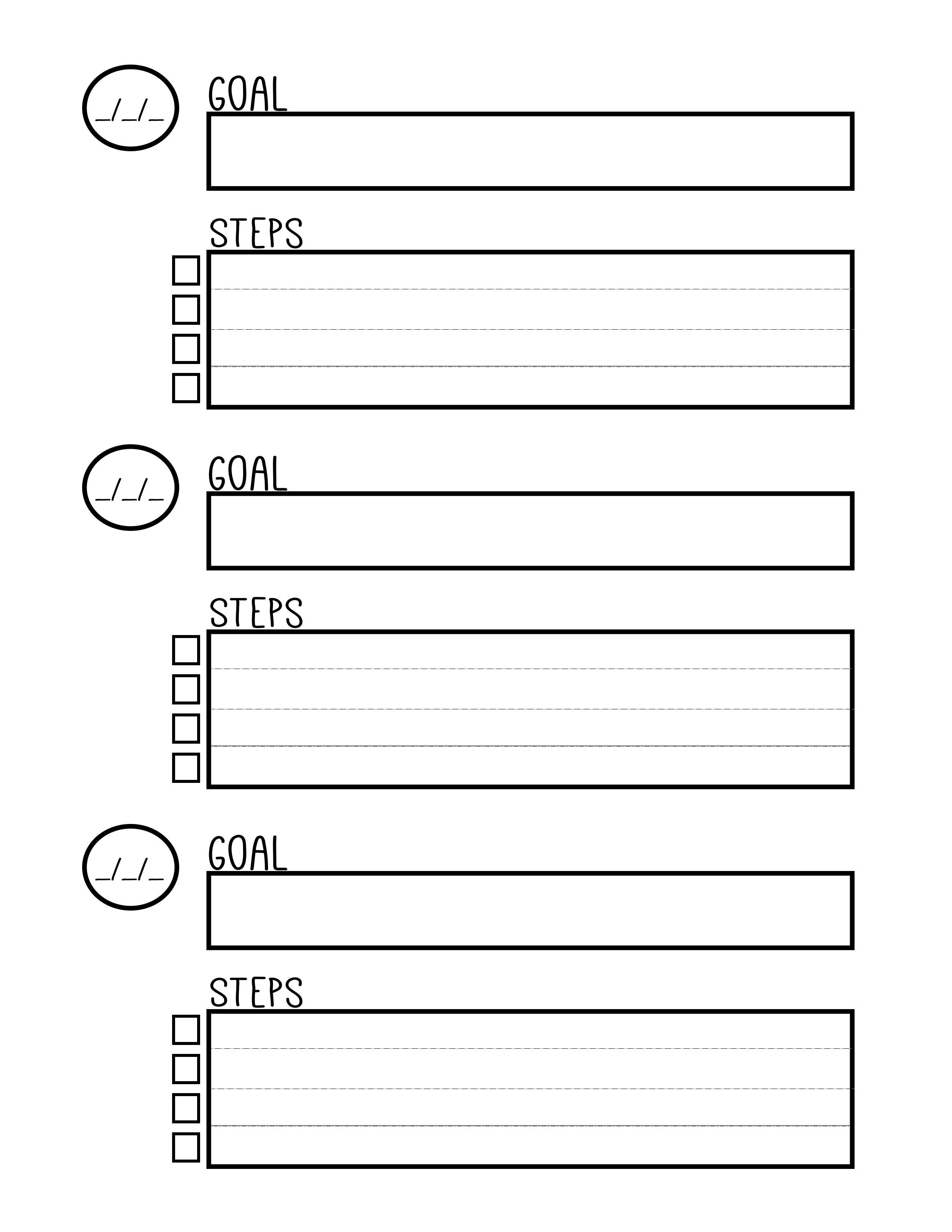 Free Printable Goal Setting Worksheet - Planner … | Education | Goal - Free Printable Goal Setting Worksheets For Students