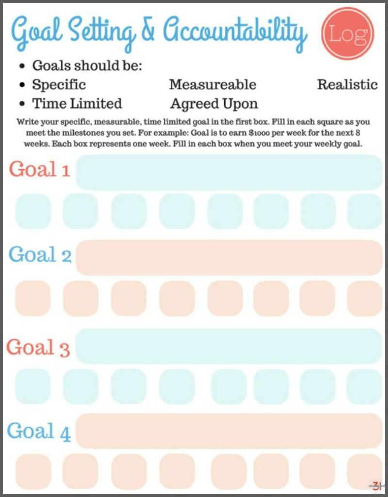 Free Printable Goal Setting Worksheets - Organized 31 - Free Printable Goal Setting Worksheets For Students