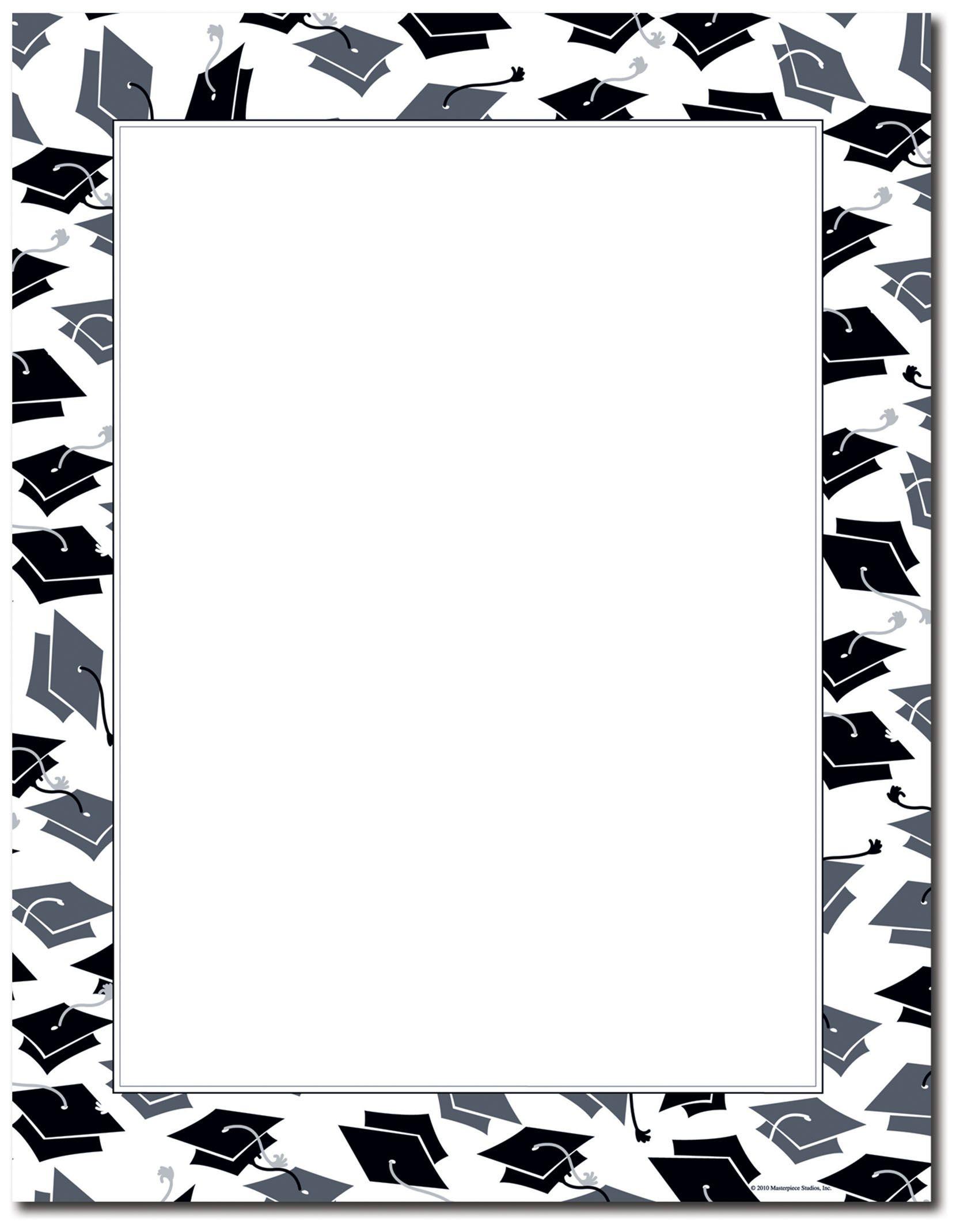 Free Printable Graduation Border Paper - 7.6.kaartenstemp.nl • - Free Printable Page Borders