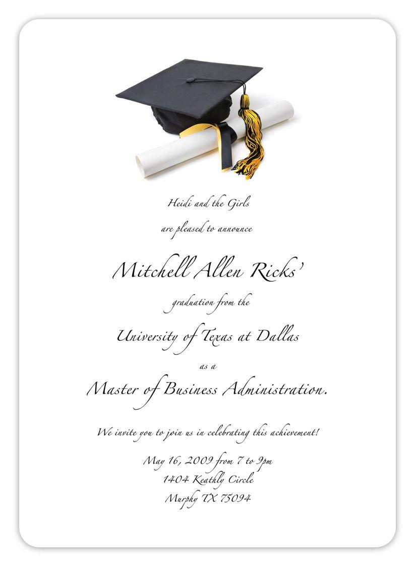 Free Printable Graduation Invitation Templates 2013 2017   Places To - Free Printable Graduation Cards