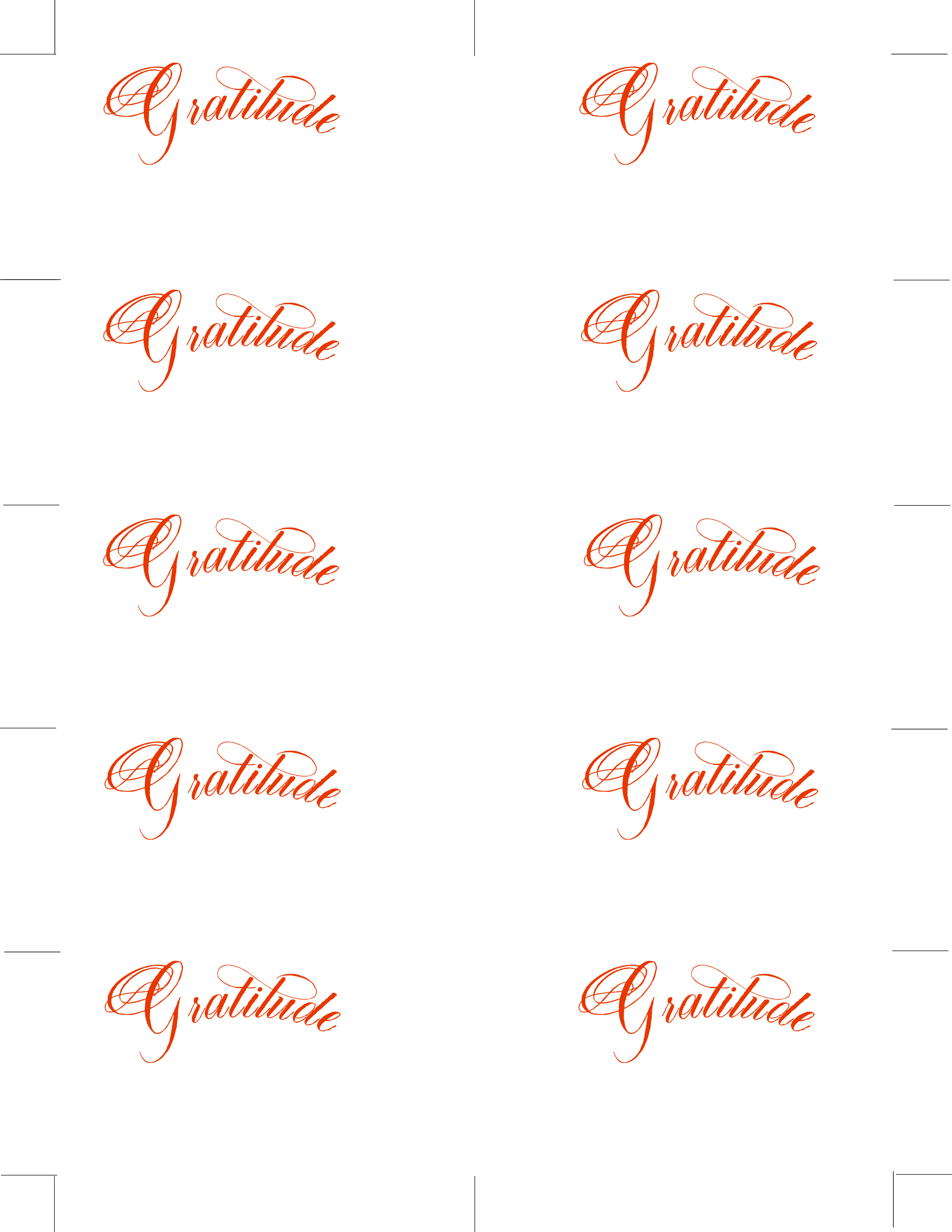 Free Printable Gratitude Place Cards | Lettering Art Studio - Free Printable Place Cards