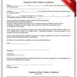 Free Printable Guardian Of Minor Children, Conditional | Sample   Free Printable Legal Documents