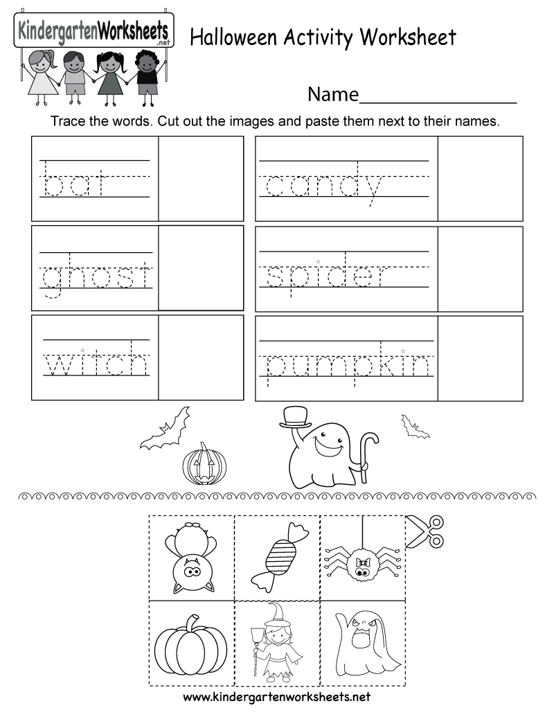 Free Printable Halloween Activity Worksheet For Kindergarten - Free Printable Halloween Activities