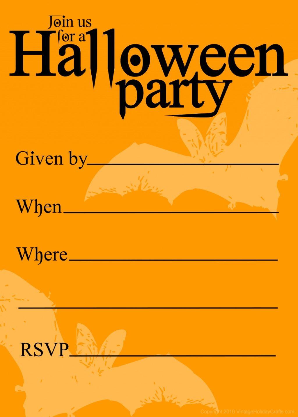 Free Printable Halloween Birthday Invitations Templates | Halloween - Free Halloween Birthday Invitation Templates Printable