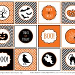Free Printable Halloween Circle Tags | Halloween Arts   Free Printable Halloween Tags