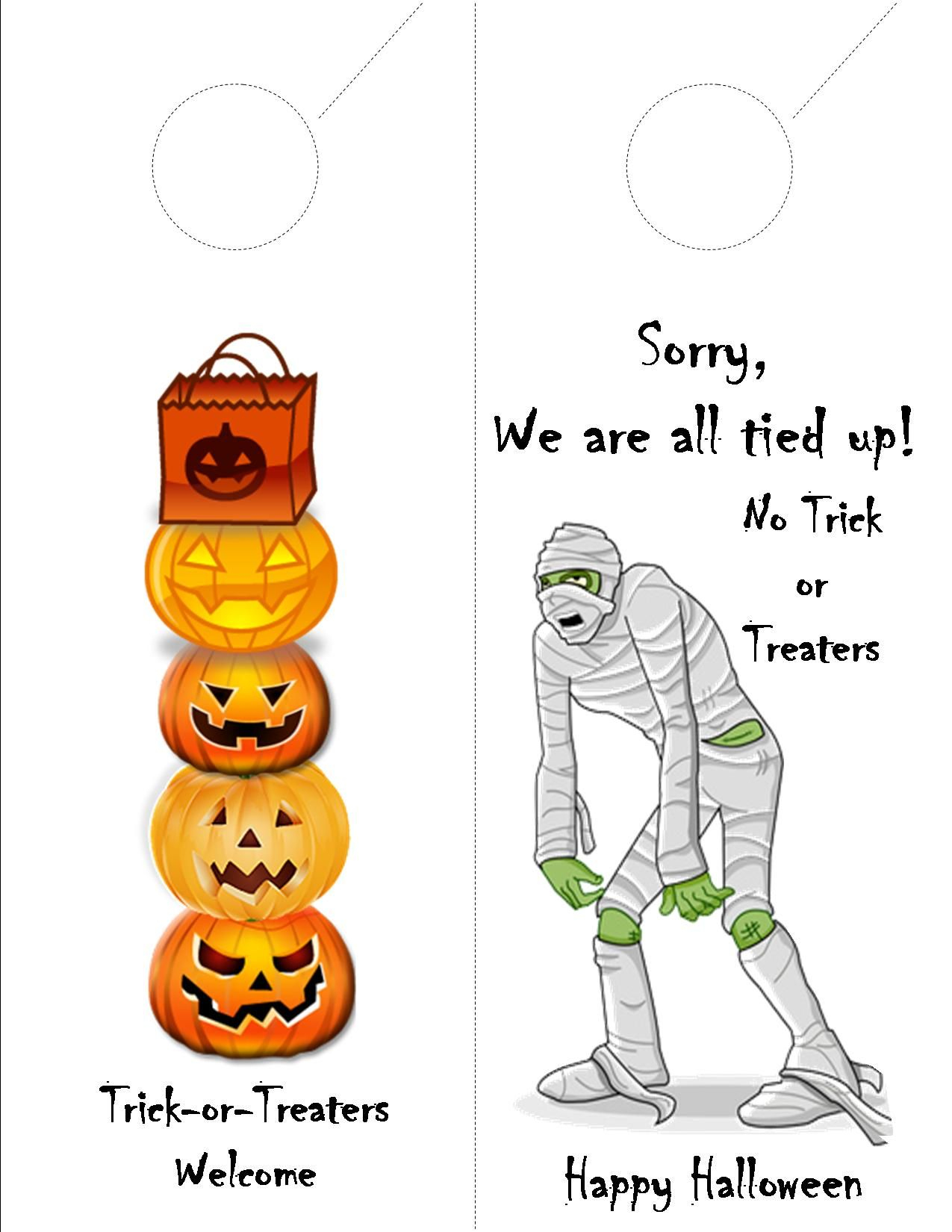 Free Printable Halloween Door Hanger For Your Apartment Community - Halloween Door Hangers Free Printable