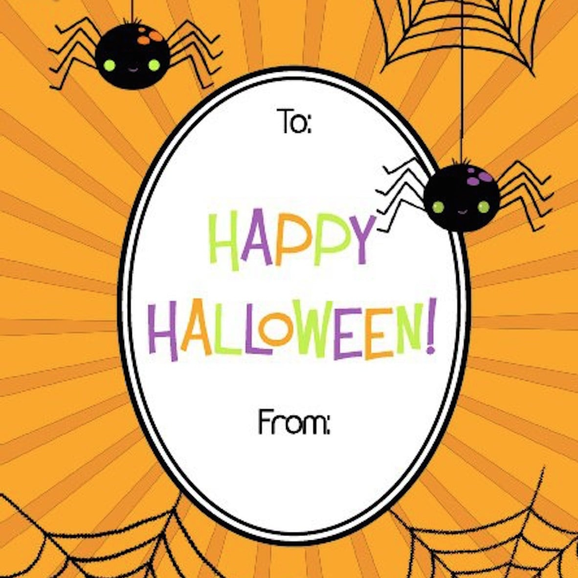 Free Printable Halloween Gift Tags | Popsugar Smart Living - Free Printable Halloween Tags