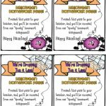 Free Printable Halloween Homework Pass | Hallowen With Free   Free Printable Halloween Homework Pass