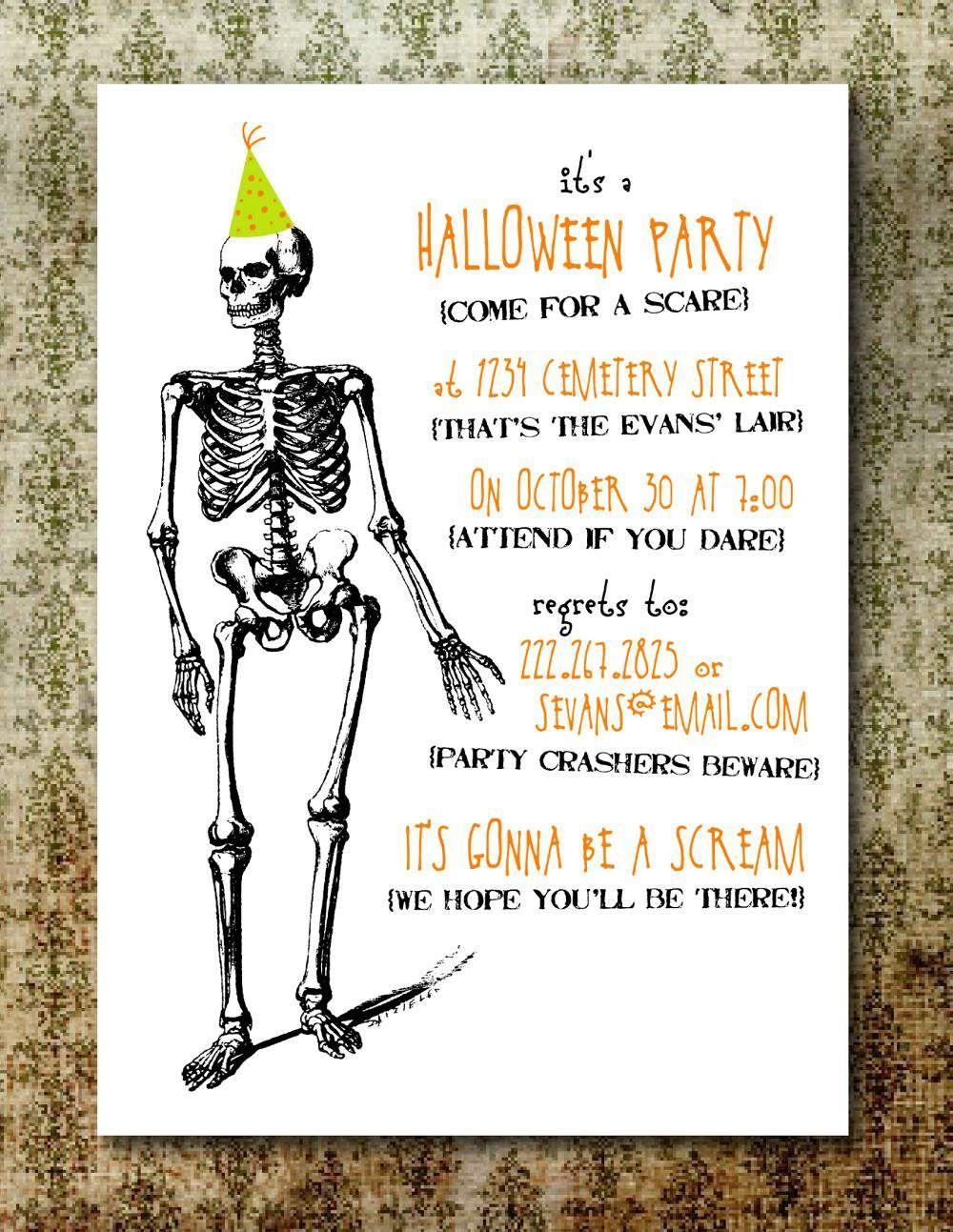 Free Printable Halloween Invitation Templates | Free Printable - Free Halloween Birthday Invitation Templates Printable