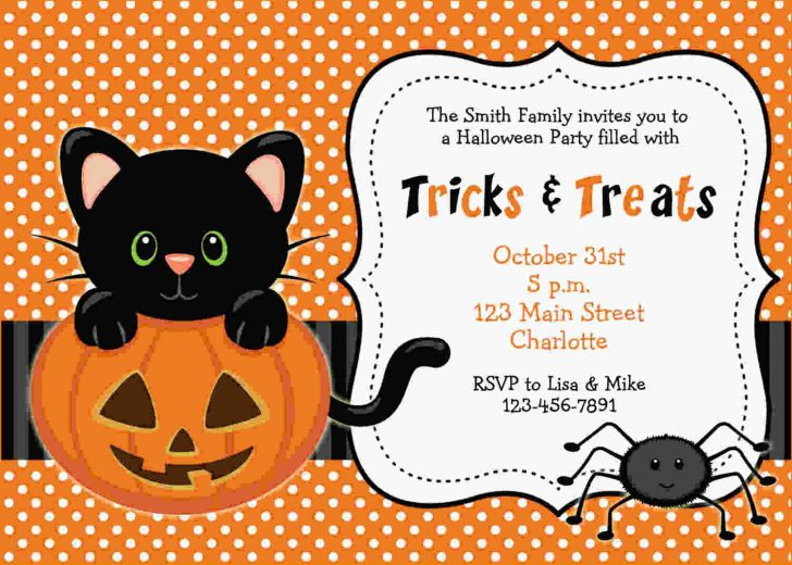 Free Halloween Birthday Invitation Templates Printable