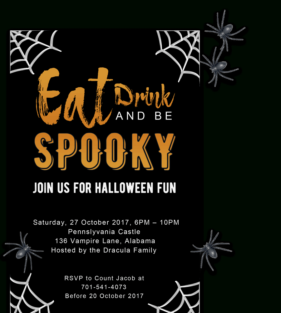 Free Printable Halloween Party Invitations 2018 ✅ [ Template] - Free Printable Halloween Wedding Invitations