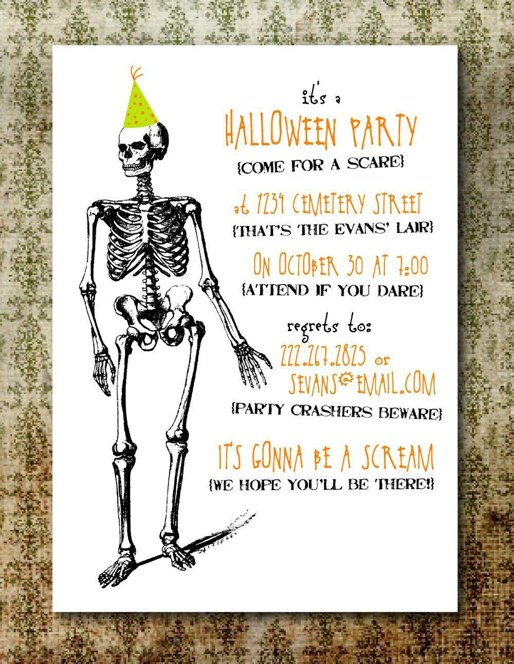 Free Printable Halloween Party Invitations For Adults | Party - Halloween Invitations Free Printable Black And White