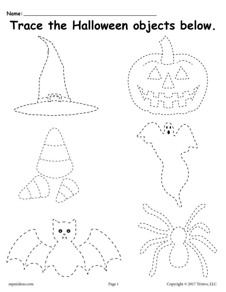 Free Printable Halloween Tracing Worksheet | Halloween | Halloween - Free Printable Halloween Worksheets