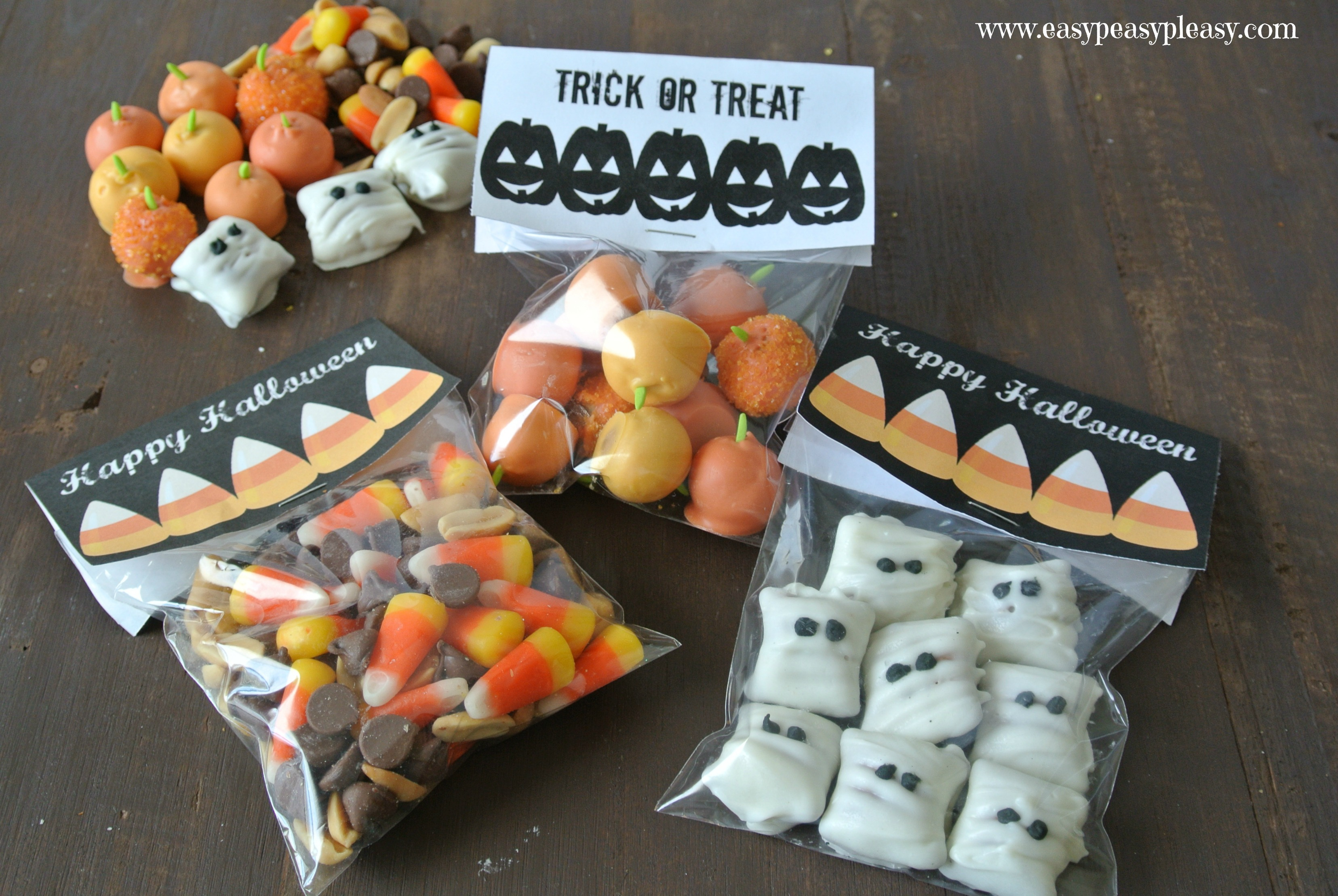 Free Printable Halloween Treat Bag Toppers - Easy Peasy Pleasy - Free Printable Trick Or Treat Bags