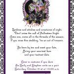 Free Printable Halloween Wedding Invitations Purple Halloween   Free Printable Halloween Wedding Invitations