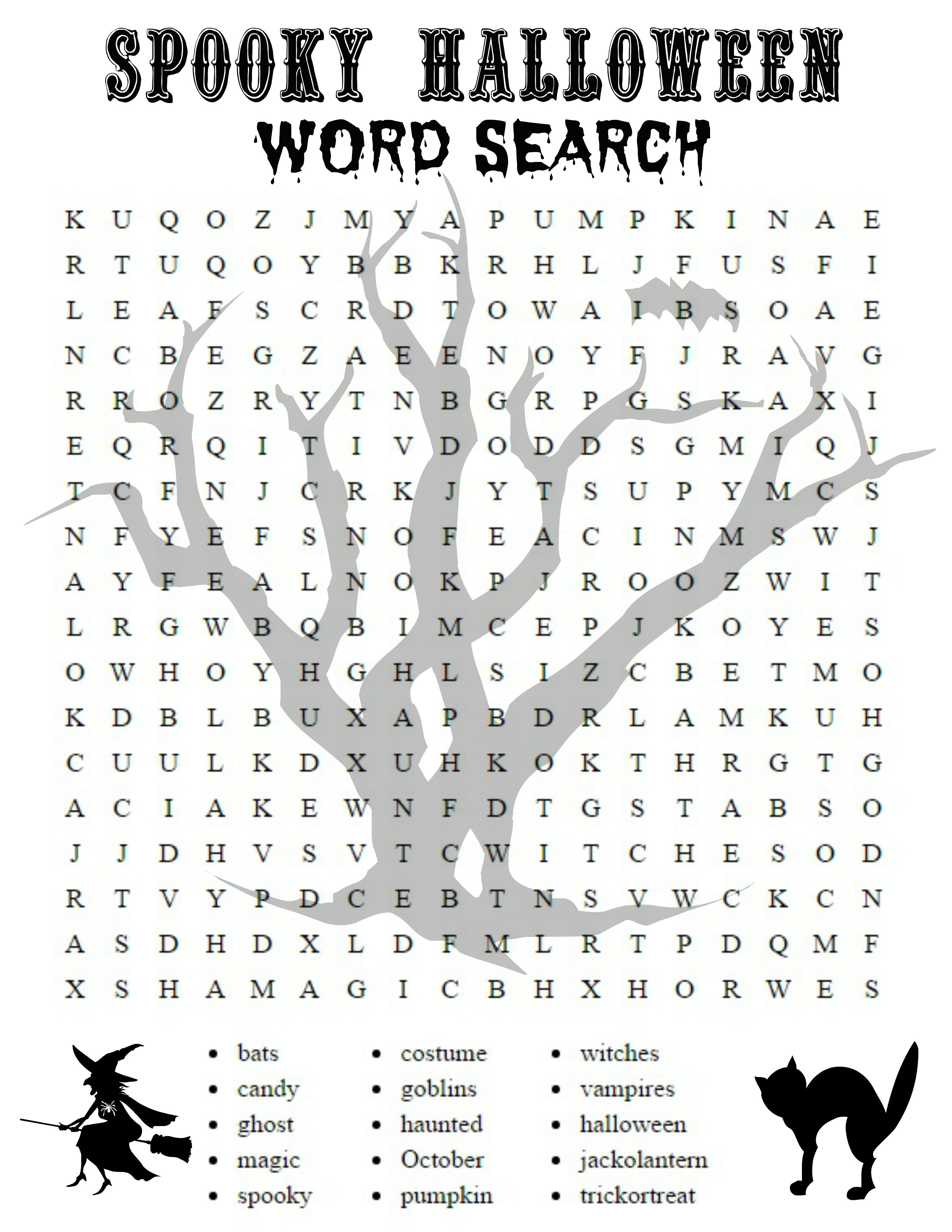 Free Printable Halloween Word Search Sheets - 2.5.hus-Noorderpad.de • - Free Printable Activities For Adults