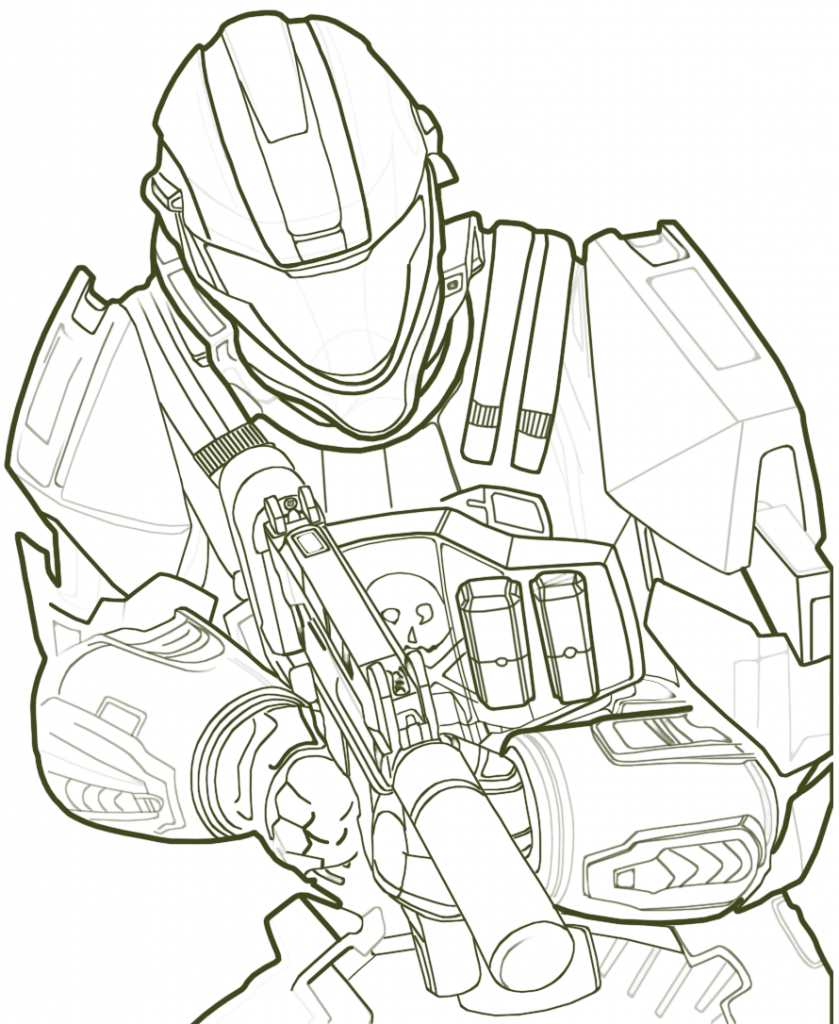 Free Printable Halo Coloring Pages For Kids | Other Stuff - Free Printable Halo Coloring Pages