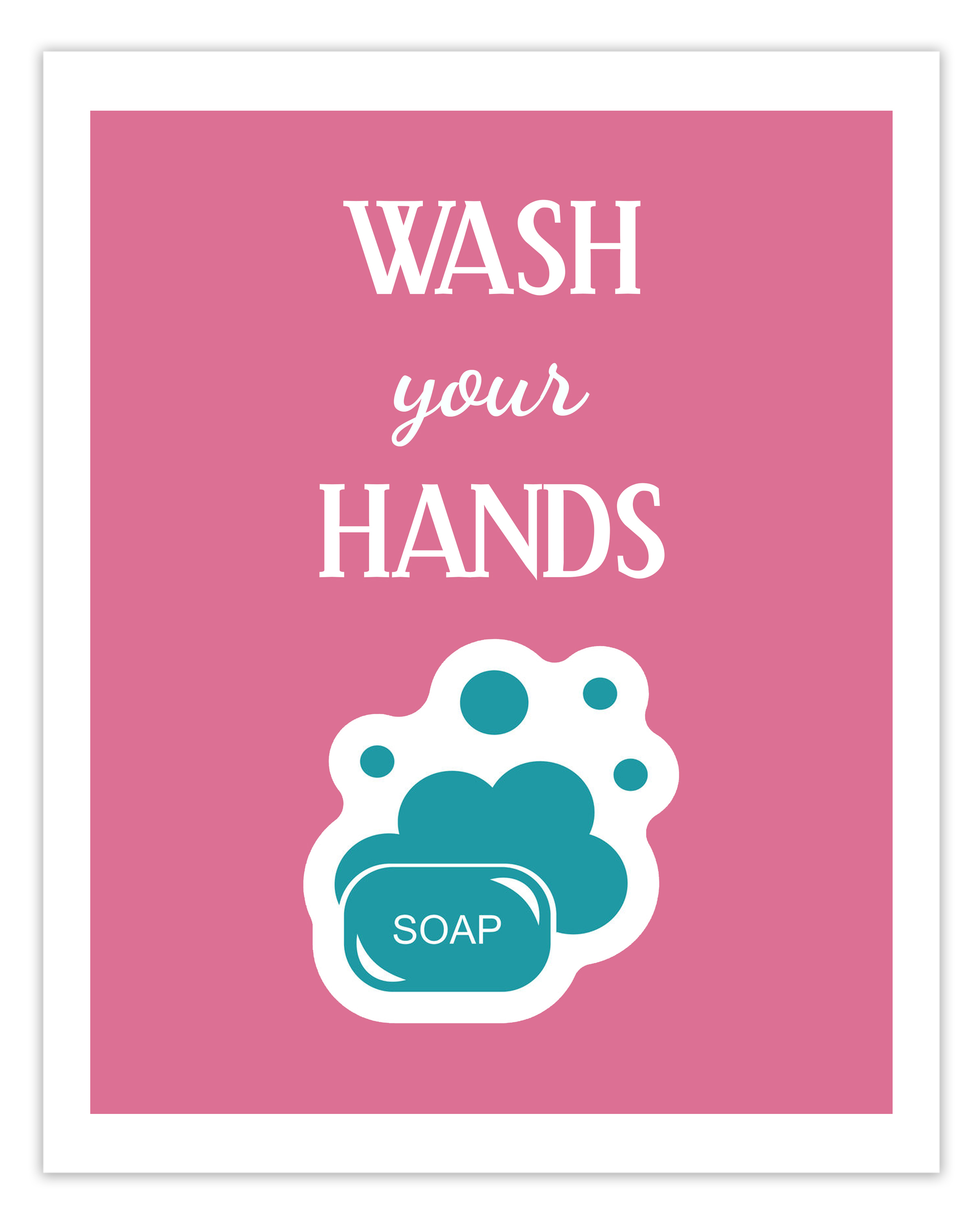 Free Printable Hand Washing Sign For Children - 12.17.ybonlineacess.de • - Free Printable Hand Washing Posters
