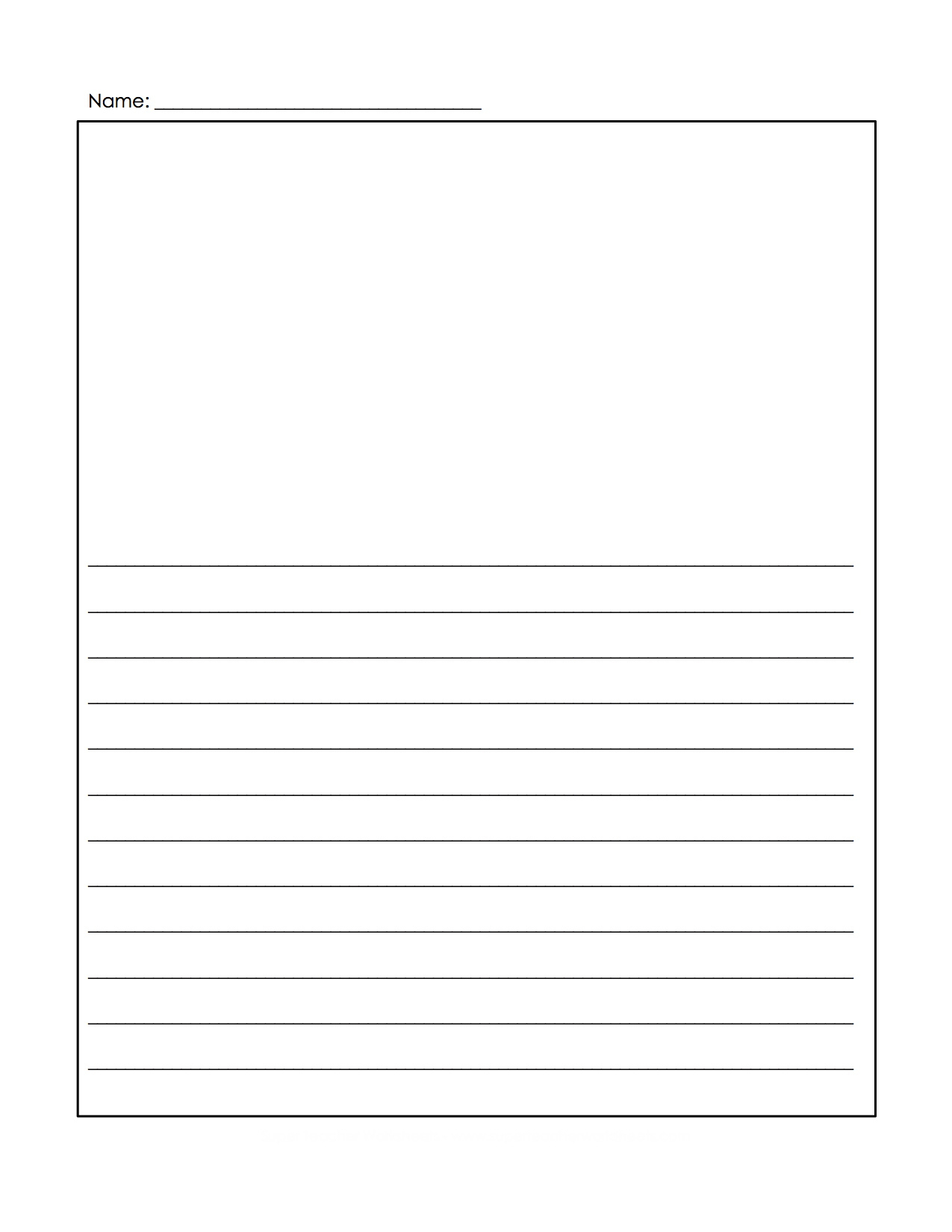 Free Printable Handwriting Paper With Picture Box | Download Them - Free Printable Writing Paper With Picture Box