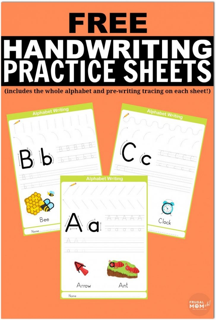 Free Printable Worksheets Handwriting Practice
