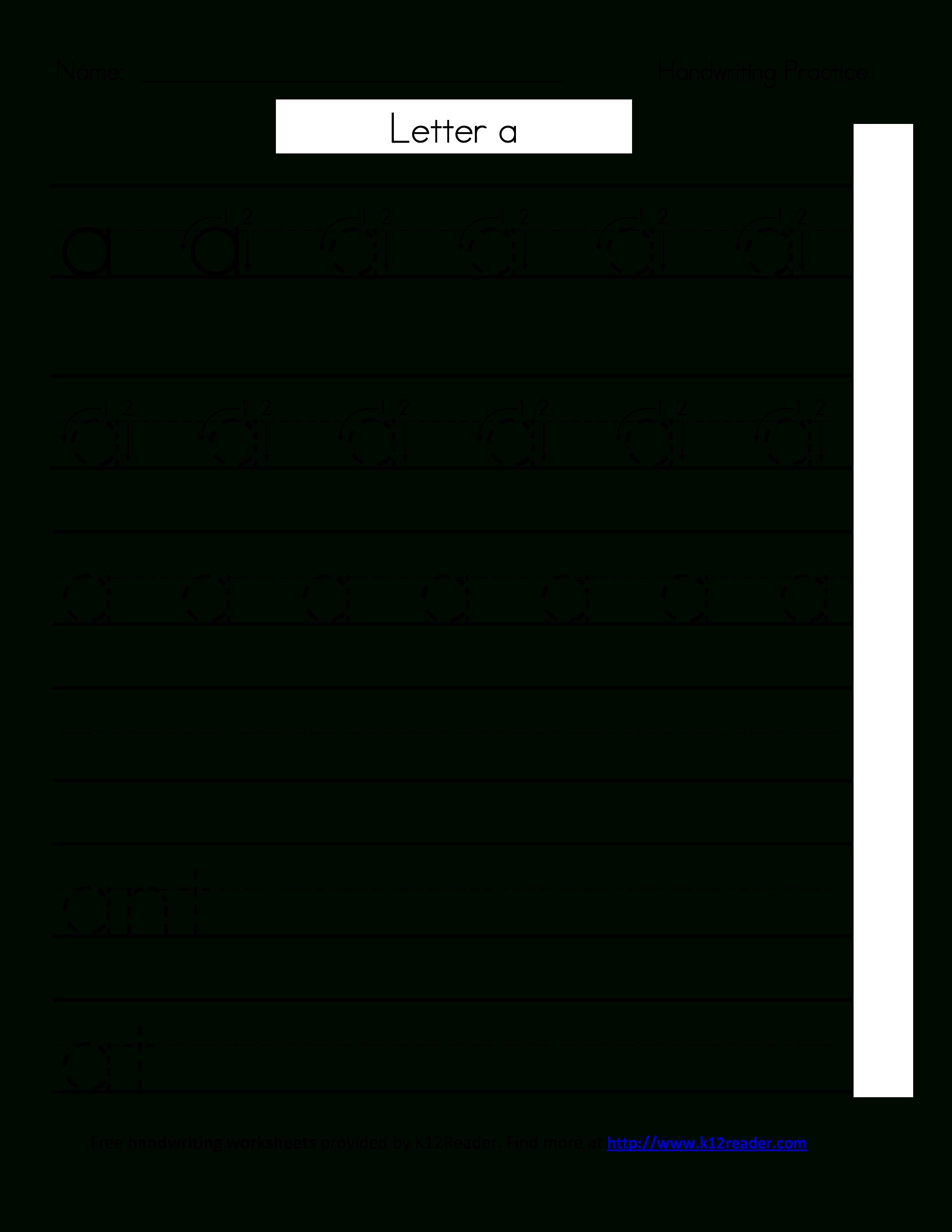 Free Printable Handwriting Worksheets | Templates At - Free Printable Blank Handwriting Worksheets