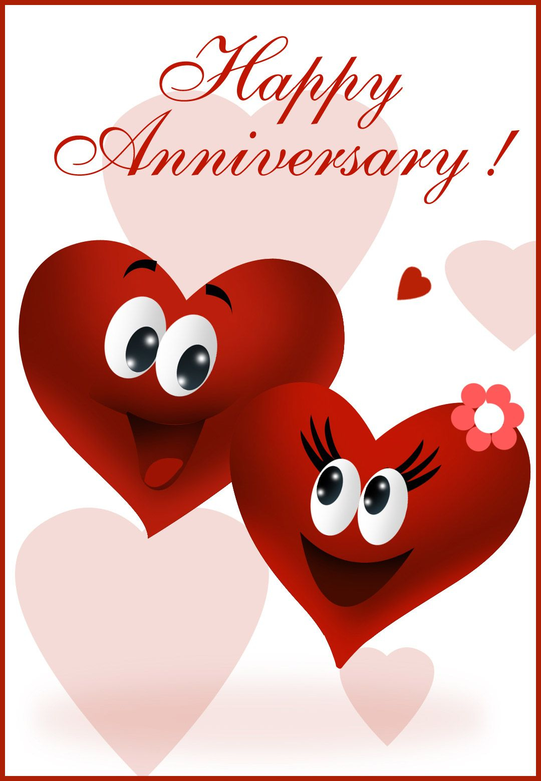 Free Printable Happy Anniversary Greeting Card | Anniversary - Free Printable Romantic Birthday Cards