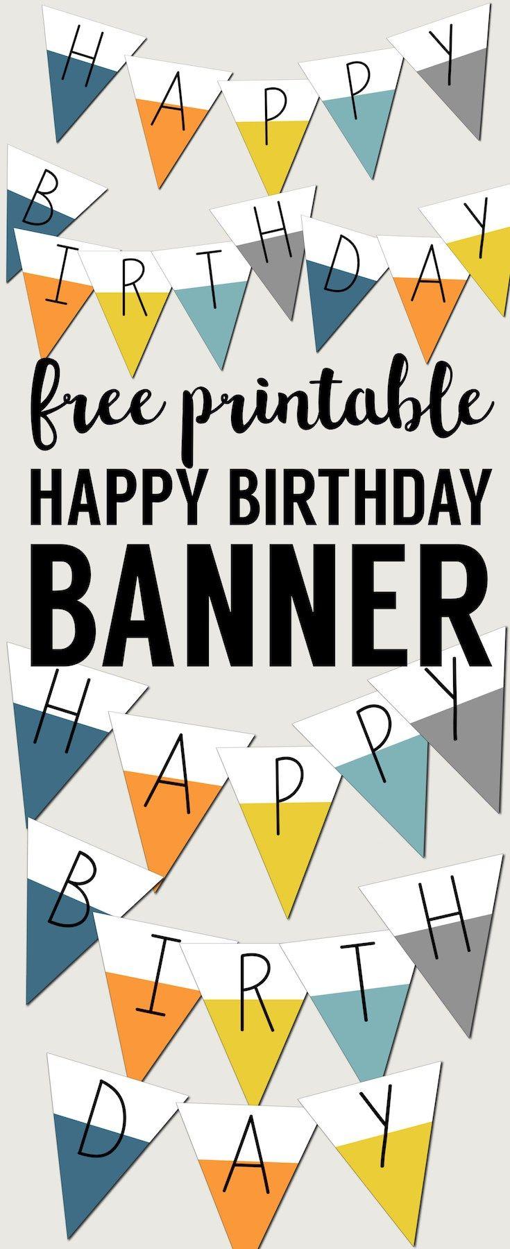 Free Printable Happy Birthday Banner | Preschool | Birthday, Happy - Free Printable Happy Birthday Signs