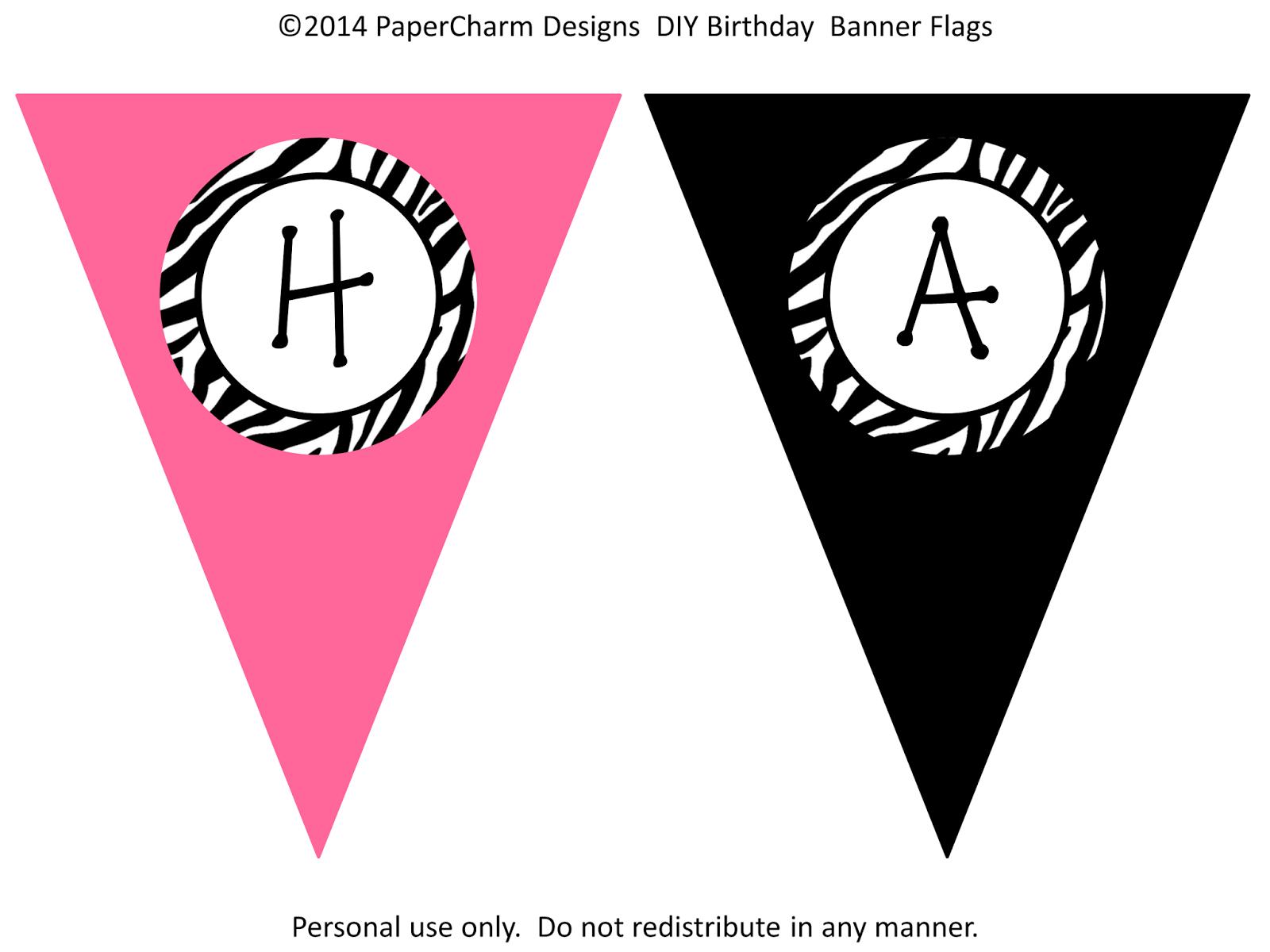 Free Printable Happy Birthday Banner Templates   Hunecompany - Free Printable Happy Birthday Banner Templates