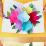 Free Printable Happy Birthday Card With Pop Up Bouquet | Printables   Free Printable Birthday Cards For Her