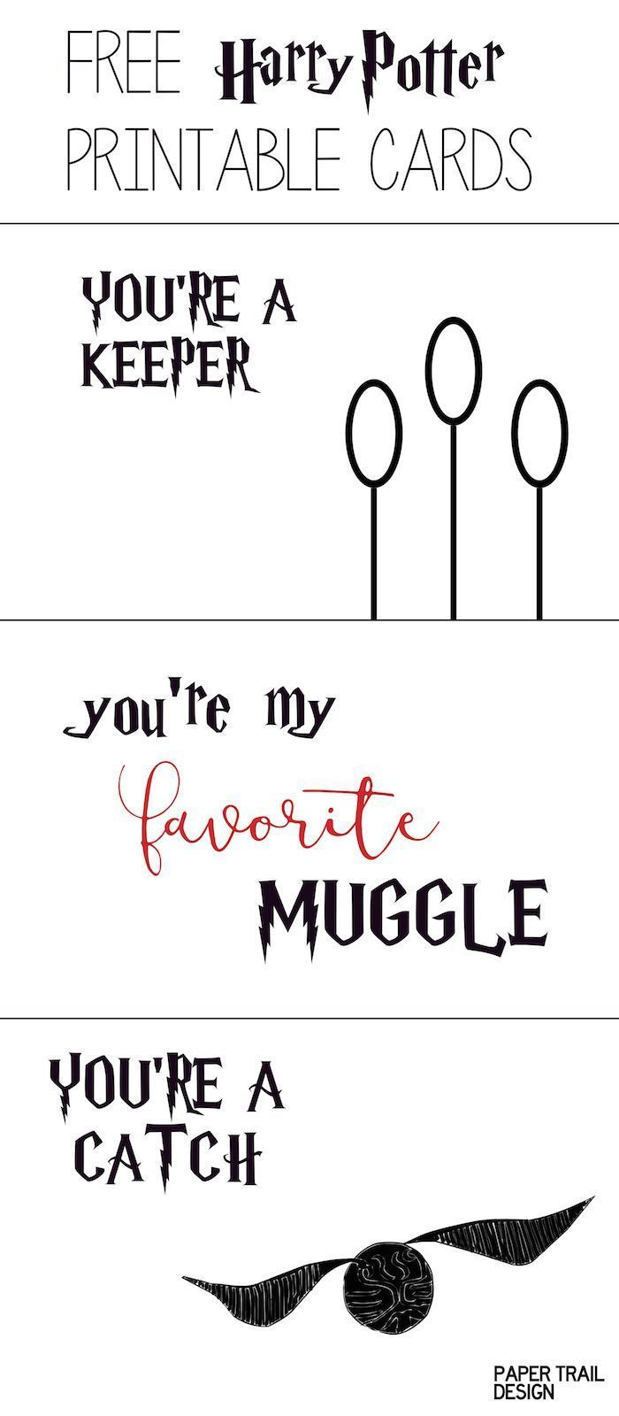 Free Printable: Harry Potter Cards | For Aiden | Pinterest | Harry - Free Printable Special Occasion Cards