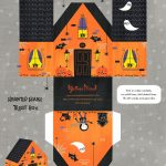 Free Printable Haunted House Treat Box ^^ #paperhouse | Sketches And   Free Printable Halloween Paper Crafts