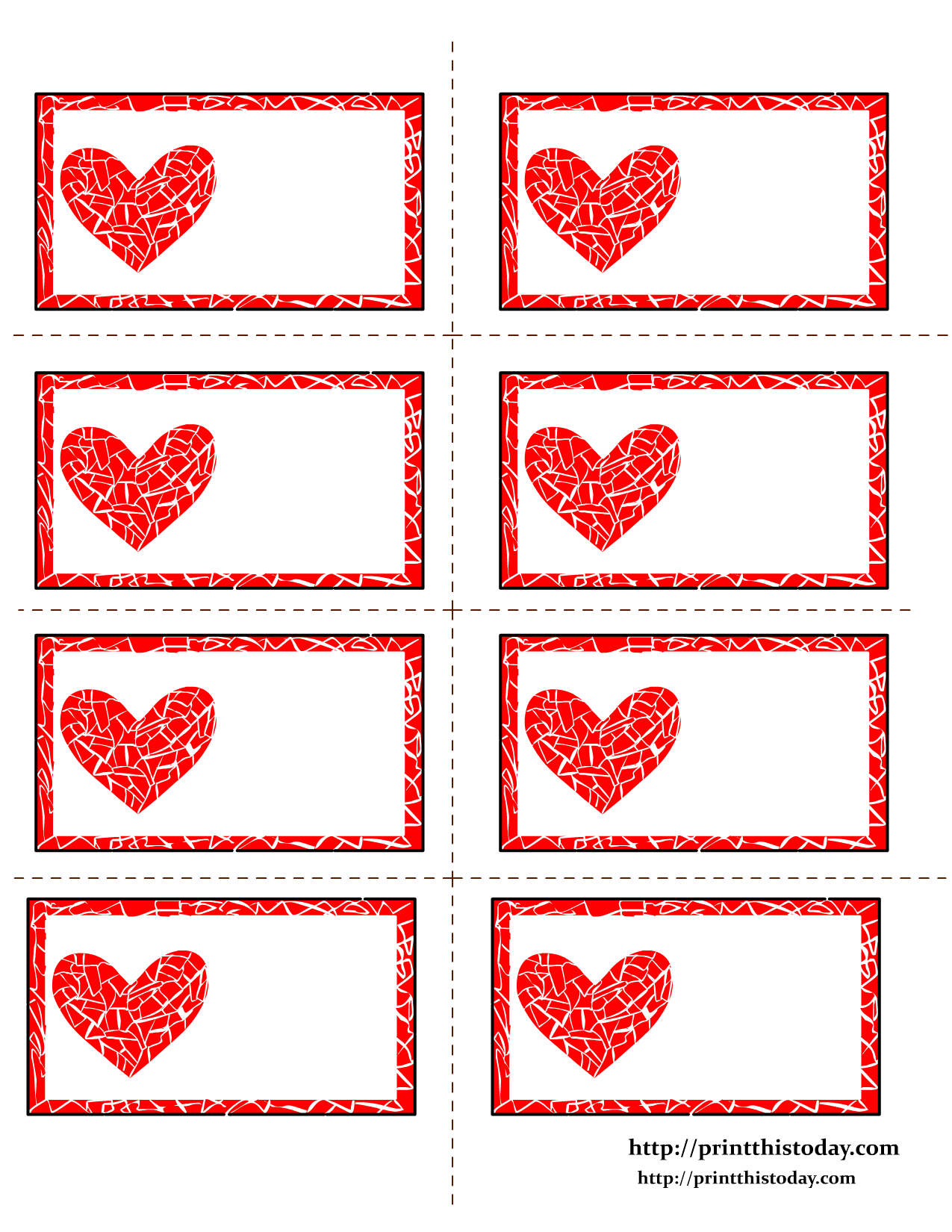 Free Printable Hearts Labels - Free Printable Hearts