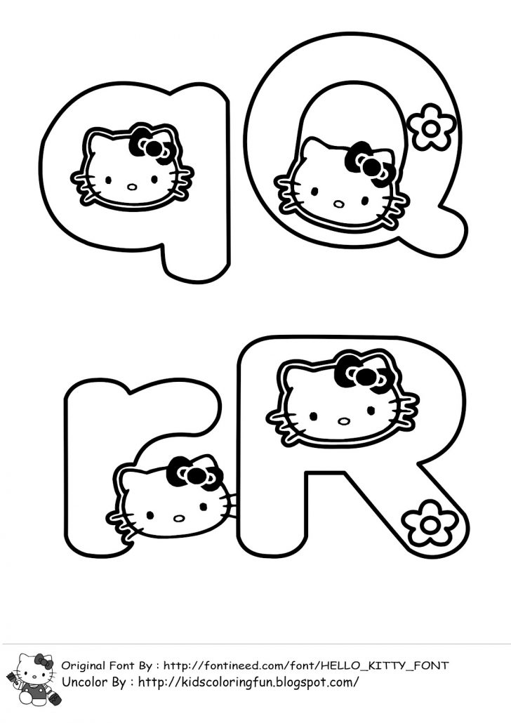 Free Printable Hello Kitty Alphabet Letters